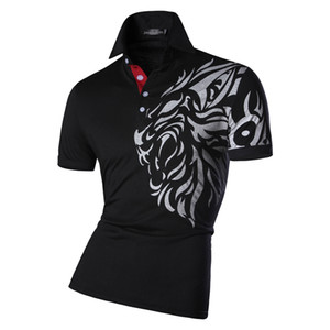 Mode été décontractée pour hommes Polo Shirt Conçu à manches courtes Shirt Slim Fit Trend Solid Color 4 Couleurs S M L en gros
