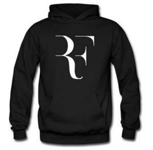 NewTennis Roger Federer Hombres Fleece Ropa casual Hipster Roger Federer RF Europa Suéter con capucha Marea Hombres Fitness Sudaderas Otoño Invierno