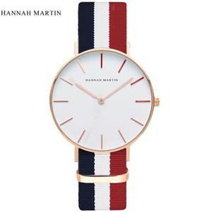 HANNAH MARTIN Men Casual Sport Quartz watch Top  Classic D W Nylon Strap Men's Wristwatch Japan 2017 relojes hombre