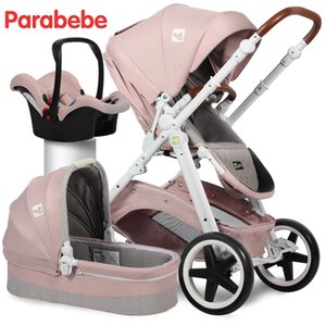EU Standard Baby Stroller 3 In 1 Carrycot Car Seat And Pushchair For 0-3 Years Old European Stroller  Baby Car Carriage