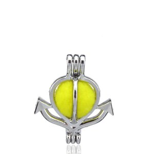 10 pz / lotto Argento Lega 24mm Anchor Anchor Oyster Beads Cage Locket Pendant Aromaterapia Profumo Oli Essenziali Diffusore