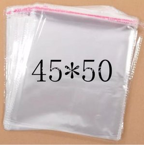 Clear Resealable Cellophane Poly PVC big large Bags 45*50cm Transparent Opp Bag Packing Plastic Bags Self Adhesive Seal
