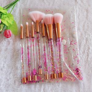 Sirène Série Glitter diamant Brosses de maquillage de licorne de Quicksand cristal maquillage cosmétiques Brosse Brosses Fard à paupières poudre Fondation