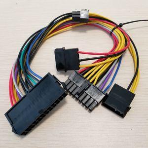 ATX de 24 pinos para 18Pin dupla IDE Molex para 6 pinos Converter Cord cabo adaptador de energia para a HP Z600 Workstation Servidor 18AWG