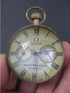Exquisite chinesische Vintage Kupferglas Taschenuhr