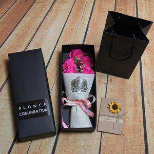 Yapay Gül Sabun Çiçek Hediye Kutuları Moda Tasarım Simülasyon Sabunlar Sahte Çiçekler Sevgililer Günü Sevgilisi Çift 10zr ZZ Için En Iyi Hediye