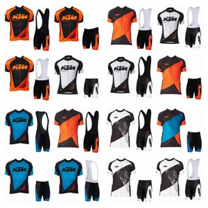 KTM ركوب قصيرة الأكمام البلوز (مريلة) السراويل مجموعة الرجال الدراجات جيرسي الدراجات الملابس دراجة قميص Roupa Ciclismo J5716