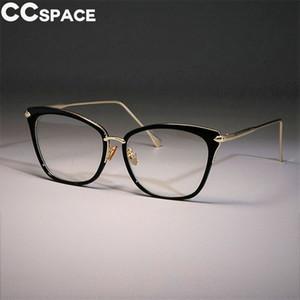 Lady Sexy Cat Eye Frames Marcos Mujeres Retro Grandes Gafas de Aleación CCSPACE Diseñador de la Marca Óptica Moda Moda Gafas 45369