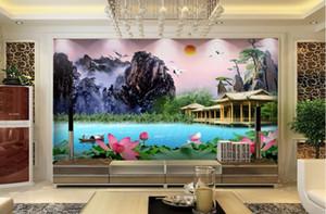 Papel de Parede Özelleştirme Güzel sahne 3D Wallpaper Backdrop Basit Moda geniş Duvar 3D Duvar Resimleri Duvar kağıdı Boyama