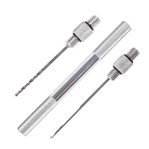 LEO 27983 3pcs set Fishing Tackle Aluminium Alloy Bait Needle Fishing Tool 5PCS IN 1 LOT