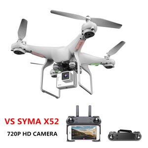 Upgrate novo zangão com câmera 720 p hd 0.3 w hover branco helicóptero vs syma x52 dron rc zangão full hd camera zangão profissional frete grátis