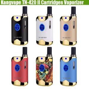 أصيلة Kangvape TH420 II خرطوشة المبخر Vape Pen VV TH 420 2 650mAh بطارية صندوق mod 92a3 BUD بخاخات زيت سميك