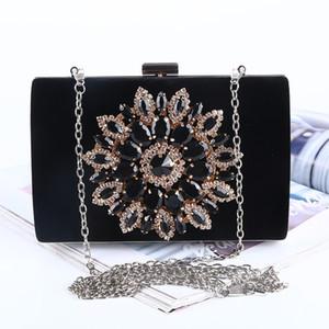 Ayçiçekleri el çantaları elmas kaplı bayan parti / düğün aşınma yüksek kapasiteli akşam çanta Balo elbisesi yastığı yüksek işçilik