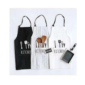 조정 가능한 인쇄 패턴 앞치마 주방장 웨이터 주방 요리 앞치마와 폴리 에스터 홀터넥 턱받이 Delantal Cocina For Man Woman