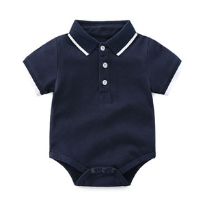 Tem Doger Baby Boys داخلية قصيرة الأكمام بذلة الأطفال حديثي الولادة طفل قمصان الصيف