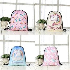 Nouveau Modèle Licorne Sac À Dos Sac De Stockage Flamingo Numérique Organisateur D'impression Pratique Shopping Cordon Sacs Multi Styles 6 8gc ii