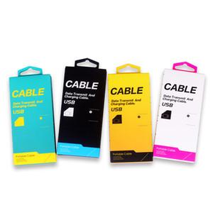 200pcs En Gros Coloré Nouveau Style Boîte D'emballage En Papier Pour Câble De Données USB Chargeur Ligne Universel Emballage En Papier De Luxe pour Câble USB