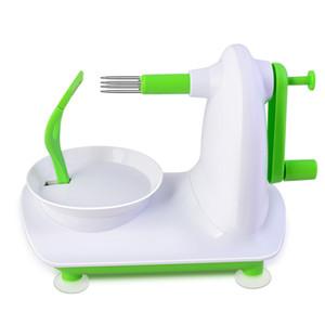 Neues design apple obstschäler cutter maschine + edelstahl schredder slicer schneiden die apple gerät, küche werkzeug.