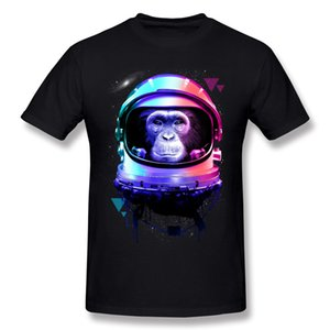 On Sale Men's 100% Cotton Fabric Apestronaut T Shirt Men's Round Neck Yellow Short Sleeve T Shirts Plus Size Casual T Shirt