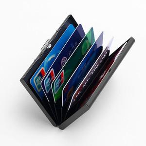 2018 sostenedor de la identificación nueva Tarjeta de Crédito para la caja de la tarjeta de aluminio hombres de las mujeres marca de moda de metal PVC divisor de plástico