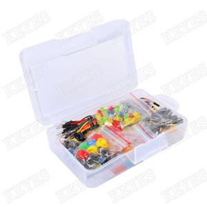 Robotlinking Starter Kit para Arduino Resistor / LED / capacitor / fios de ligação em ponte / kit resistor tábua de pão