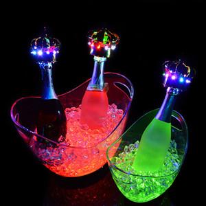 4L LED ICE دلو الشمبانيا البيرة دلو الجليد للزينة القضبان