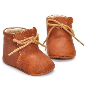 Emmababy Yenidoğan Bebek Erkek Kız Yumuşak Sole Beşik Sevimli Ayakkabı Sıcak Çizmeler kaymaz Sneakers 0-18 M