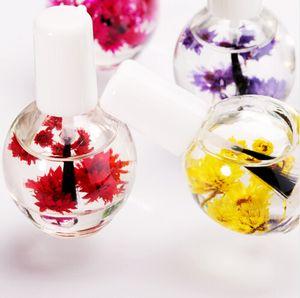 12ML de la cutícula de uñas Revitalizador Aceite Para Tratamiento nutritivo uñas del gel de Arte flores secas Defensor del clavo Aceite de manicura