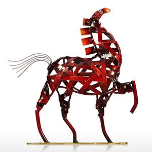Modern Handcrafts Horse Figurines Metal Art Crafts Sculpture Ornament Articles Handicrafts Home Decoration Gift Toys