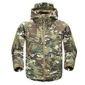 2018 homens camuflagem de inverno casaco de lã jaqueta do exército tático casaco multicam masculino camuflagem windbreakers impermeável