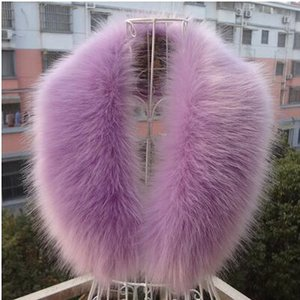 High quality winter coat collar decor faux fur shawl hat decor faux fox fur scarf fuax raccon fur scarf multi colors coat decor D18102406