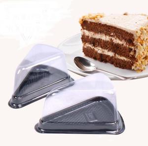 1000 Stücke Einweg Kunststoff Transparent Käse dreieck Kuchen Dessert Boxen Kunststoff Uptake Kuchen Box für Gebäck Bäckerei display Boxen