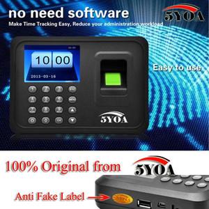 Alta Calidad Biométrica Huella Digital Tiempo Asistencia Registrador de Reloj Empleado Digital Electrónico Inglés Lector de Voz Máquina 5YA01