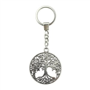 6 Pieces Key Chain Women Key Rings Car Keychain For Keys Tree Of Life 40x35mm