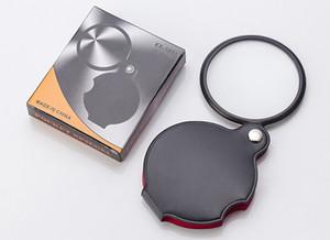 Портативный мини черный 50 мм 8 x ручной чтения увеличительное лупа объектив стекло складной ювелирные изделия петли лупы с розничной упаковке коробка