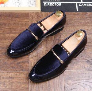 봄 뜨거운 판매 남성 신발 스웨이드 남성 드레스 신발 stylist mens designer shoes Homecoming men luxury loafers 763