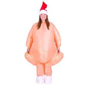 Suit Costume Ringraziamento Turchia adulti gonfiabile con cappello di Babbo Natale Fancy Dressup Festival Cosplay adulti gonfiabile