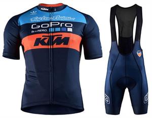 2018 KTM MTB Radfahren Jersey Kurzarm bib Shorts Set Gel Pad Beinlinge trocknen schnell Breathable Männer Radfahren Kleidung Ciclismo Wear