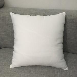"""16 """"x 16"""" branco poliéster fronha travesseiro branco puro em branco 100% poliéster capa de almofada de lona para sublimação"""