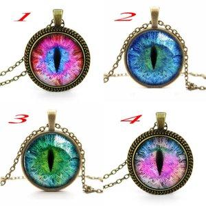 Mix-color Cat Eye Halskette Anhänger Neue Mode Sexy Charming Strass Ethnische Halskette für Männer Frauen Großhandel