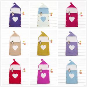 2018 Fashion New Baby Wrapped Sleeping Bag Sacco a pelo selvaggio con cappuccio per bambini Baby Out Abbigliamento Nursery Bedding 13 Colors 0-12Months