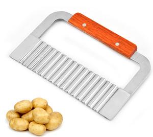 Gemüseschneider-Kartoffel-gewellter umrandeter Schneider-Messer-Edelstahl-Gerät-Frucht-Kartoffel-Schneider Peeler Cooking Tools Wholesale