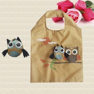 Cute Animal Owl Shape Plegable Bolsa de Compras Respetuoso del medio ambiente Regalo de las señoras Plegable Reutilizable Tote Bag Portátil Bolsa de viaje