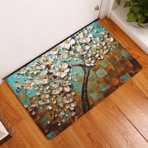 2017 새로운 환영 마루 나무 인쇄 된 욕실 부엌 카펫 Doormats 거실을위한 고양이 마루 매트 Anti-Slip Tapete