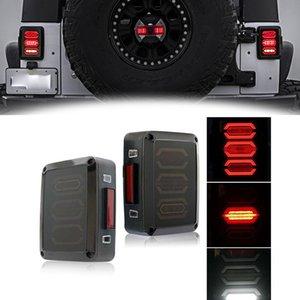 Дымовая линза серии G3 Diamond Красный светодиодный задний фонарь стоп-сигнала в сборе с резервным сигналом поворота для Jeep Wrangler JK JKU 2007 - 2017