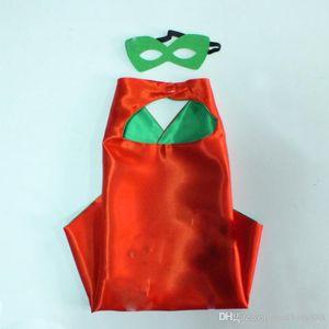 DHL 93 estilos bebé niños cosplay superhero party party 70 * 70 cm capa doble Superhero capas de máscara 2pcs / set A001