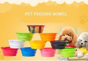 L'intestino d'alimentazione pieghevole dell'animale domestico pieghevole di plastica per il silicone pieghevole dell'alimentatore del gatto dell'acqua del cane variopinto sceglie il trasporto libero