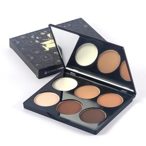 Maquiagem estéreo iluminando seis cores destaque sombra combinação capacidade de reparo sombra de nariz bronzeadores silhueta
