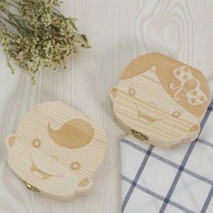Zahnbox aus Holz Baby Milchzähne Fötuszähne Auffangbox Baby Nabelschnur Auffangbox 1851
