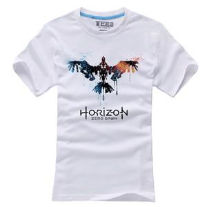 2017 Game Horizon Zero Dawn T-shirts Short Sleeve Mens Casual Cosplay White Cotton O-Neck Tops Tee Shirts